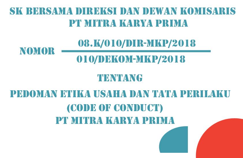 Download Pedoman Etika Usaha dan Tata Perilaku (Code of Conduct)