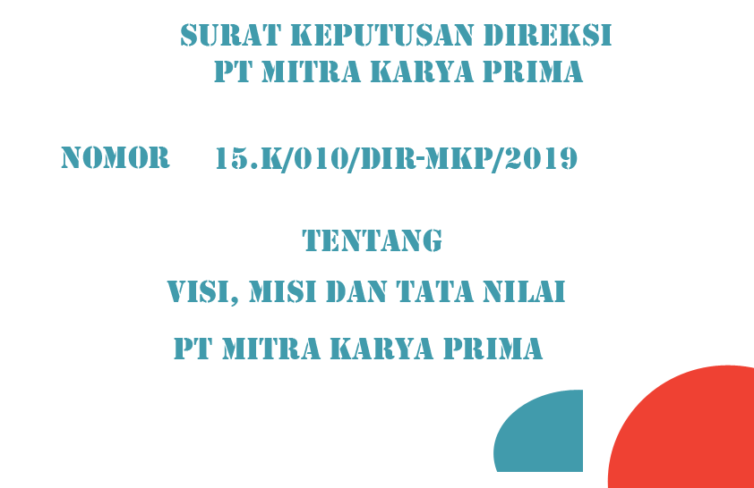 Download SK Visi Misi Tata Nilai PT Mitra Karya Prima